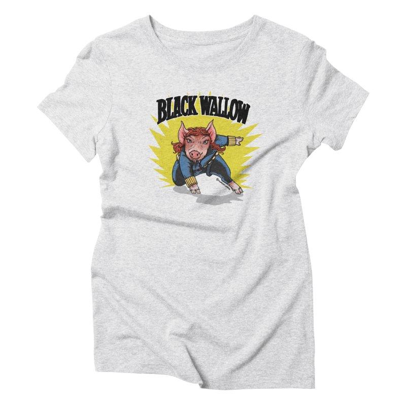 Black Wallow Women's Triblend T-Shirt by Pigment World Artist Shop
