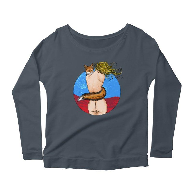 Sly Fox Women's Longsleeve T-Shirt by Pigment World Artist Shop