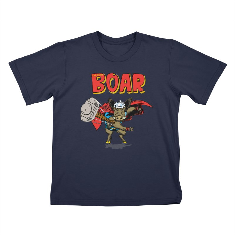 The Meaty Boar Kids T-Shirt by Pigment World Artist Shop