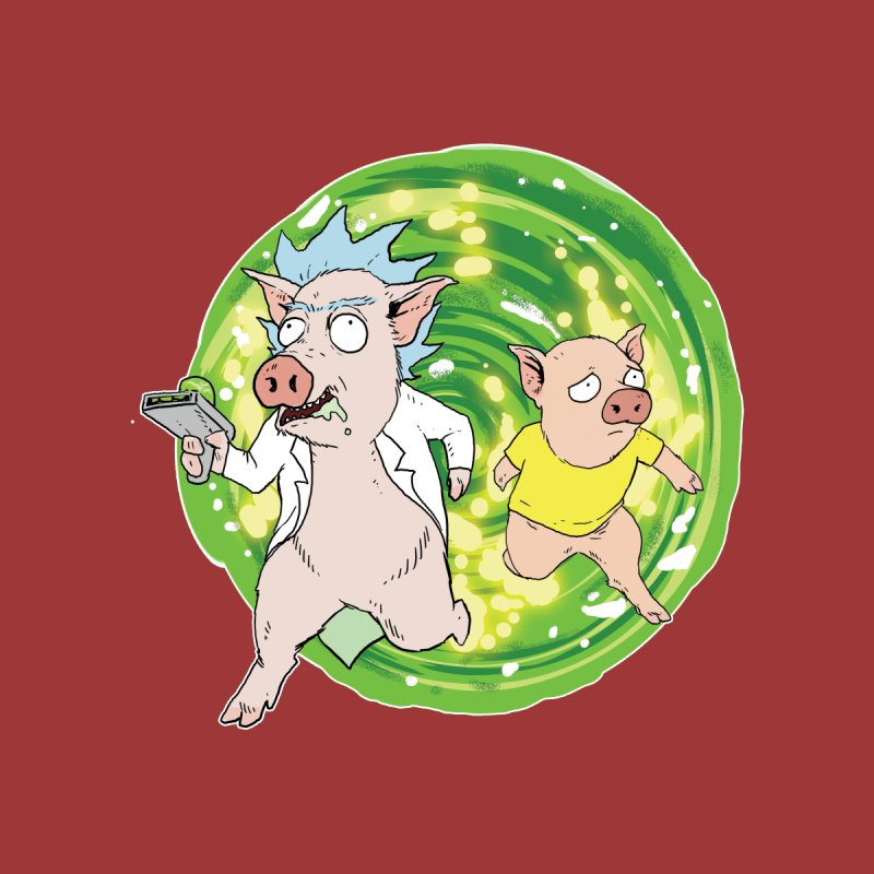 Pig and Porky Kids T-Shirt by Pigment World Artist Shop