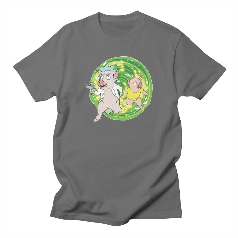 Pig and Porky Men's T-Shirt by Pigment World Artist Shop