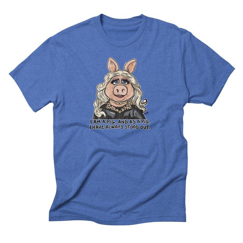 Piggy Fabulous Men's T-Shirt by Pigment World Artist Shop