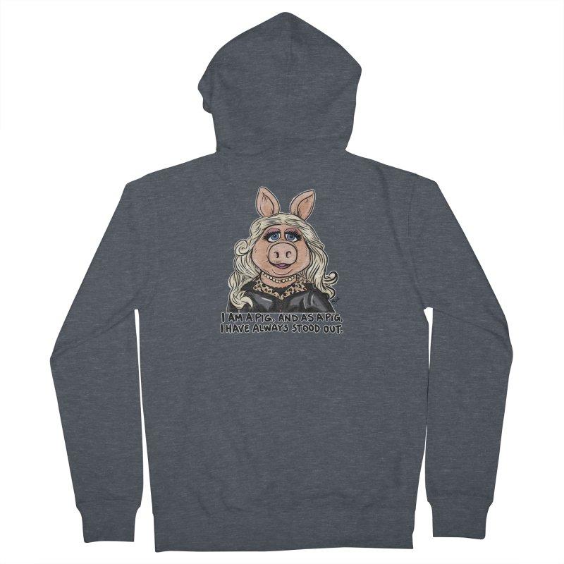 Piggy Fabulous Women's Zip-Up Hoody by Pigment World Artist Shop