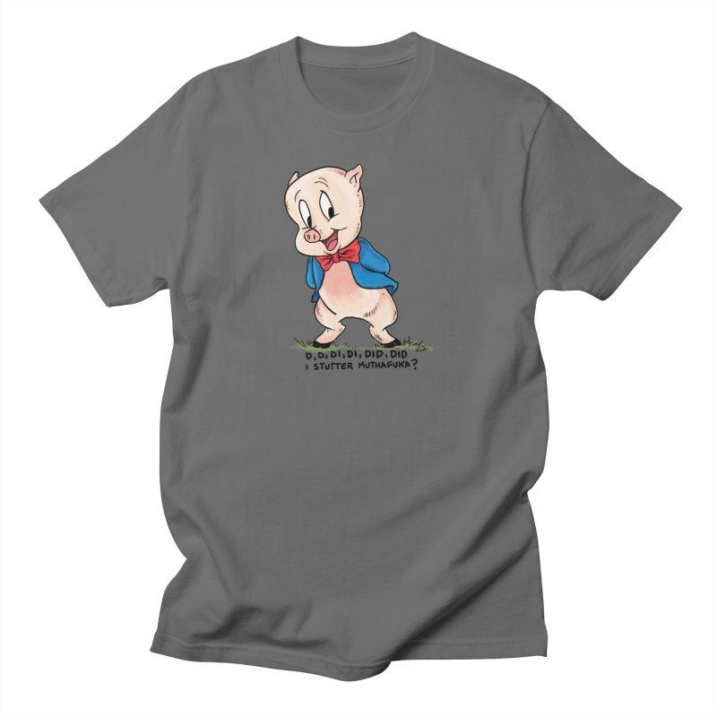 Porky Stutters Men's T-Shirt by Pigment World Artist Shop
