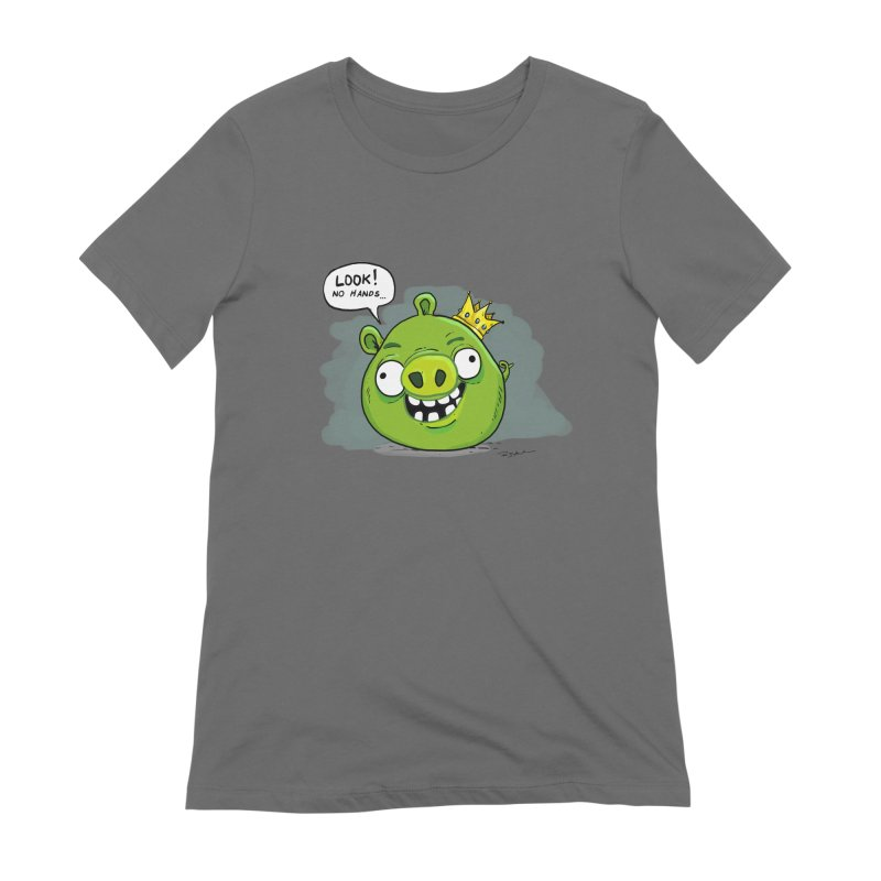 Angry Pig! Women's T-Shirt by Pigment World Artist Shop
