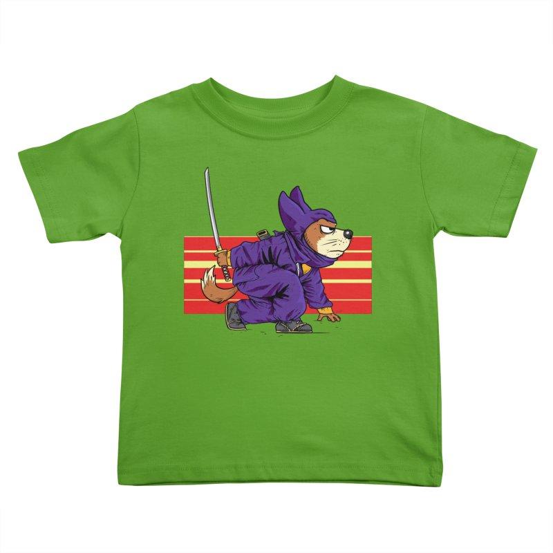 Ninja Doggin Kids Toddler T-Shirt by Pigment World Artist Shop