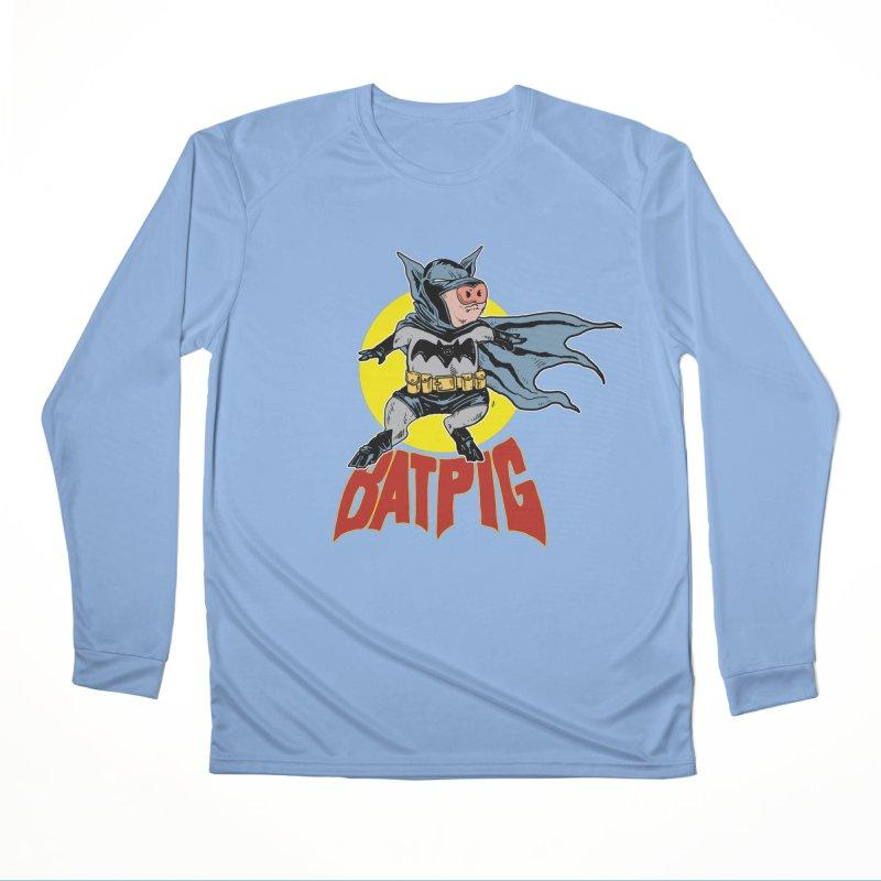 Bat Pig Men's Longsleeve T-Shirt by Pigment World Artist Shop