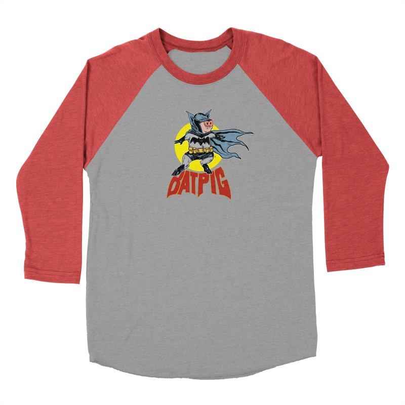 Bat Pig Women's Longsleeve T-Shirt by Pigment World Artist Shop