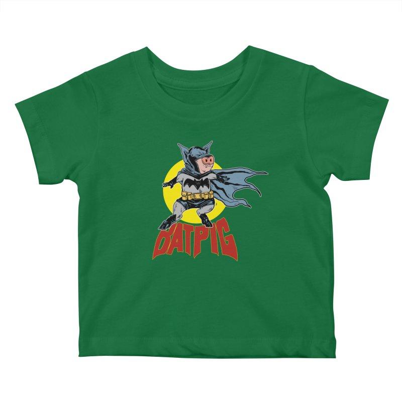 Bat Pig Kids Baby T-Shirt by Pigment World Artist Shop