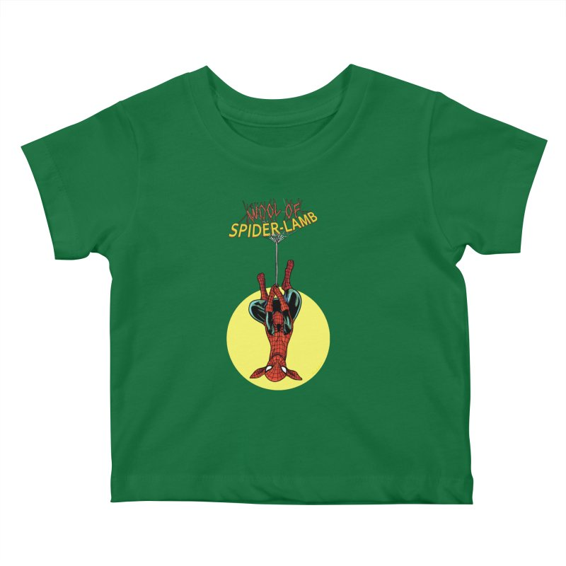 Spider-Lamb Kids Baby T-Shirt by Pigment World Artist Shop