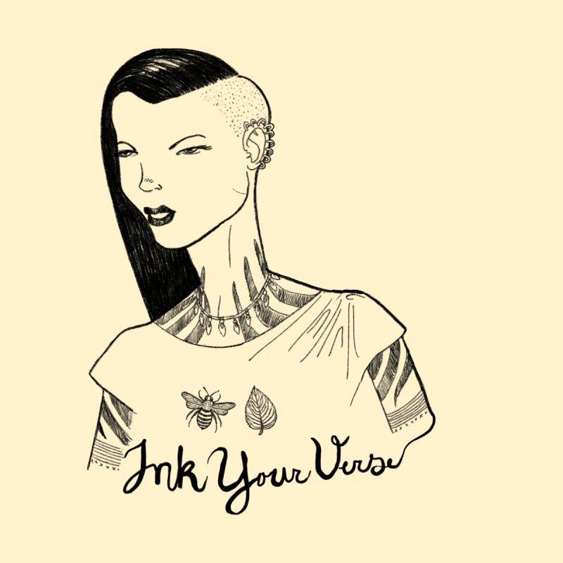 Ink Your Verse Girl Women's T-Shirt by Pigment World Artist Shop