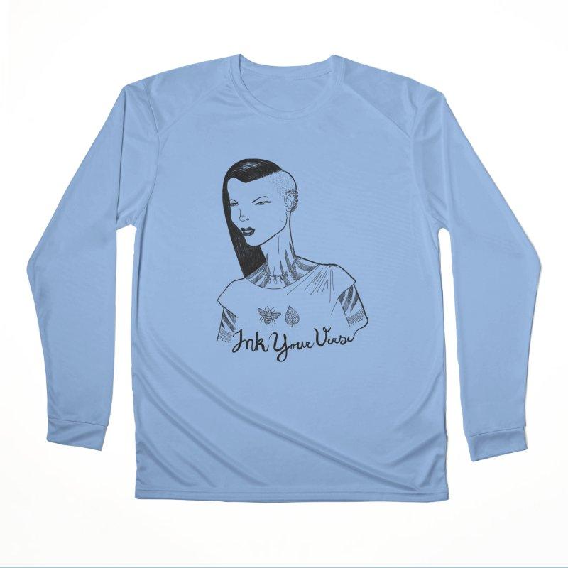 Ink Your Verse Girl Women's Longsleeve T-Shirt by Pigment World Artist Shop