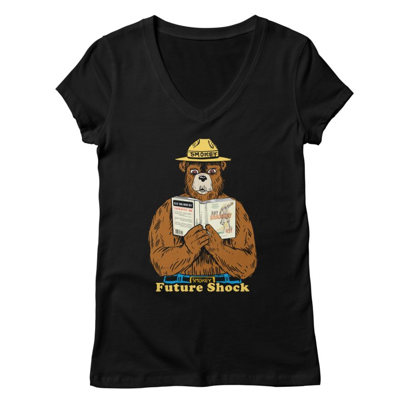 Future Shock  Women's Regular V-Neck by Pigment World Artist Shop