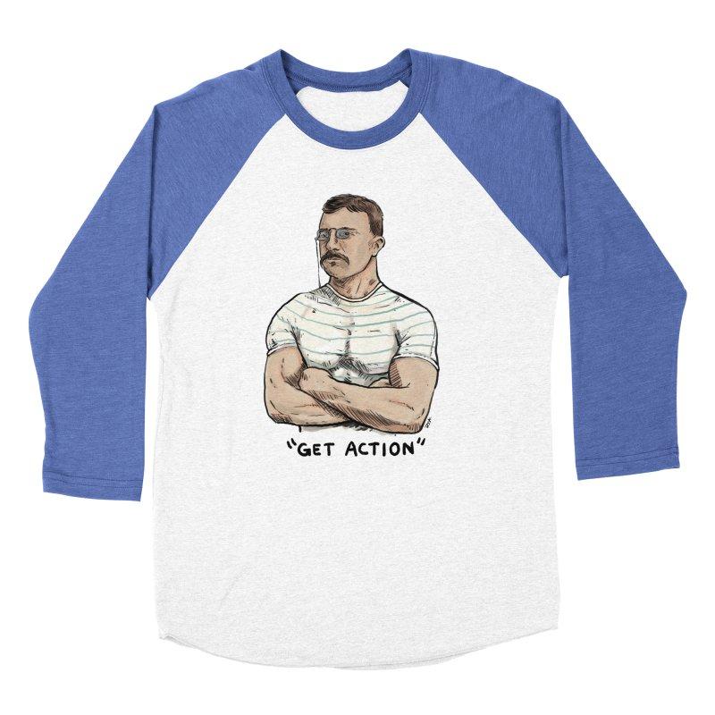 Get Action Men's Baseball Triblend Longsleeve T-Shirt by Pigment World Artist Shop