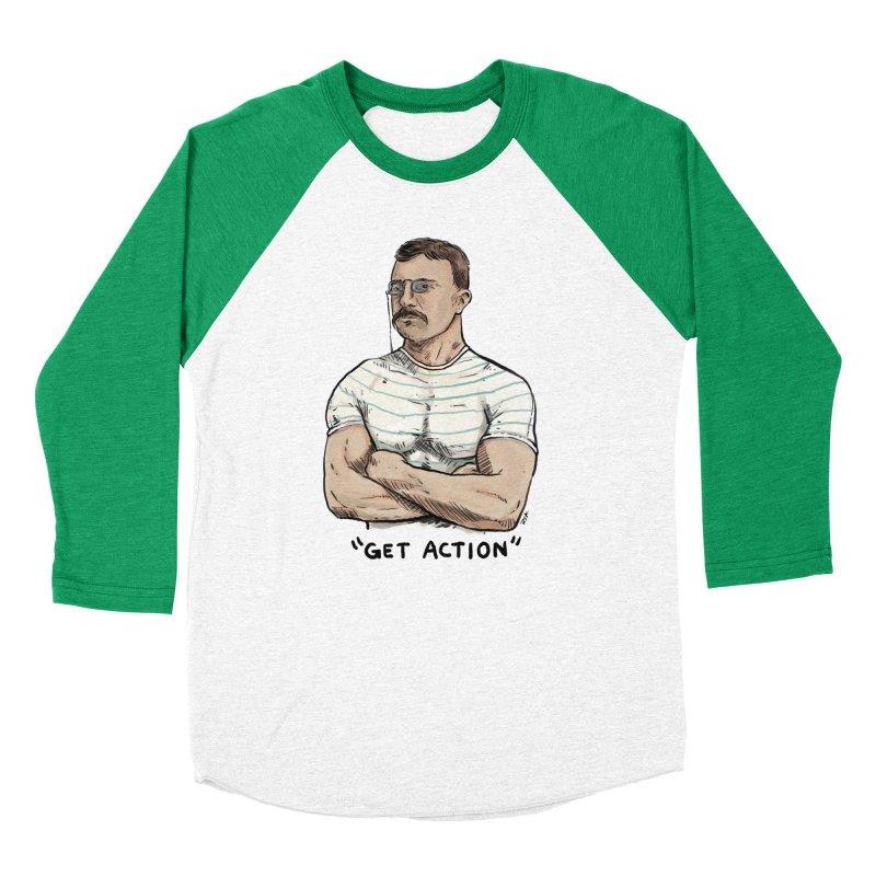 Get Action Men's Baseball Triblend T-Shirt by rjamadoart's Artist Shop