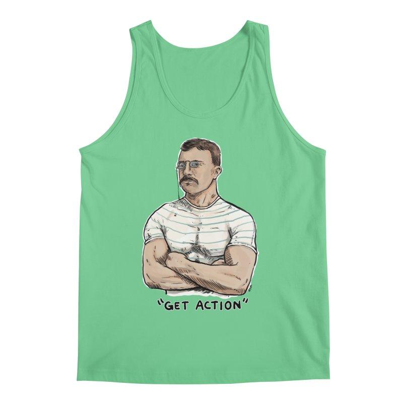 Get Action Men's Regular Tank by Pigment World Artist Shop