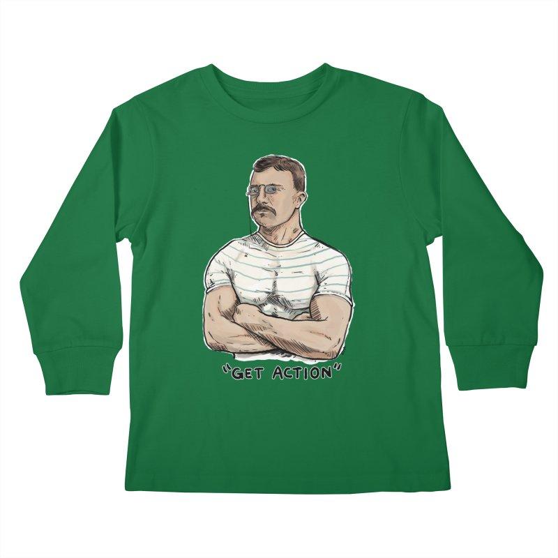 Get Action Kids Longsleeve T-Shirt by Pigment World Artist Shop
