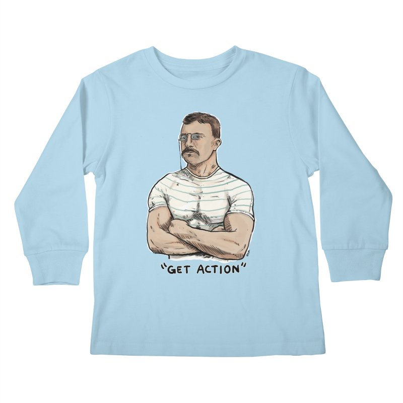 Get Action Kids Longsleeve T-Shirt by Pigment World Artist Shop