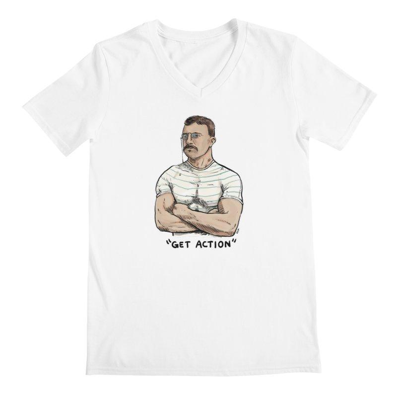 Get Action Men's V-Neck by Pigment World Artist Shop