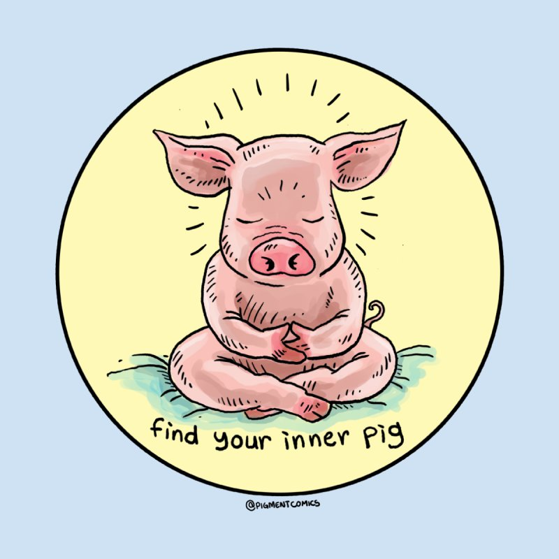 Inner Pig (Color)  None  by rjamadoart's Artist Shop