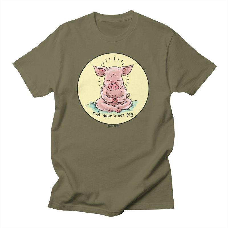Inner Pig (Color)  Men's Regular T-Shirt by Pigment World Artist Shop