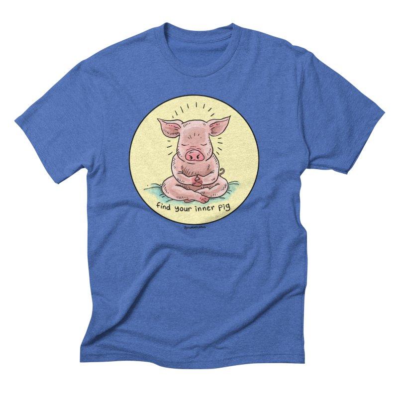 Inner Pig (Color)  Men's Triblend T-Shirt by Pigment World Artist Shop