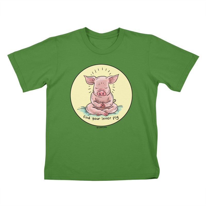 Inner Pig (Color)  Kids T-shirt by rjamadoart's Artist Shop