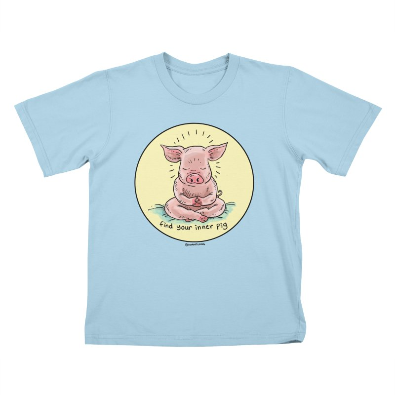 Inner Pig (Color)  Kids T-Shirt by Pigment World Artist Shop