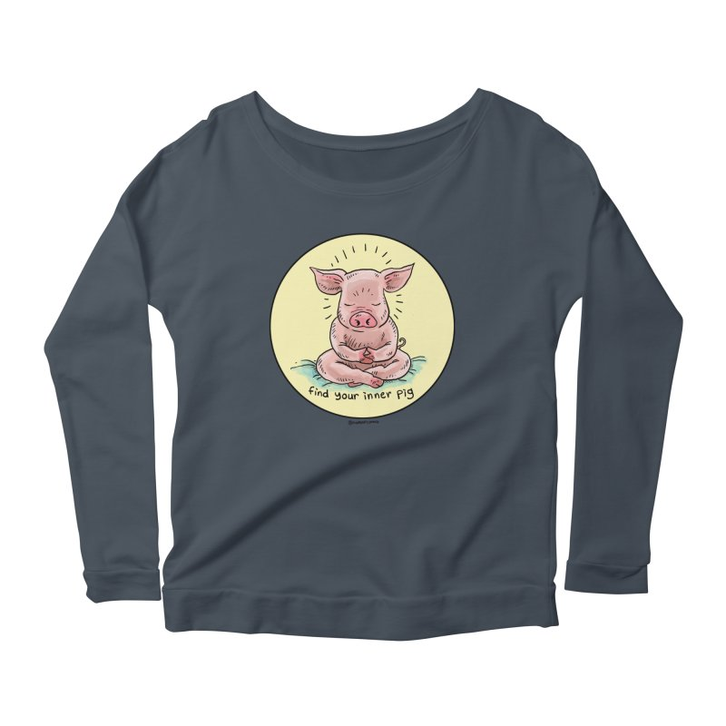 Inner Pig (Color)  Women's Longsleeve Scoopneck  by Pigment World Artist Shop