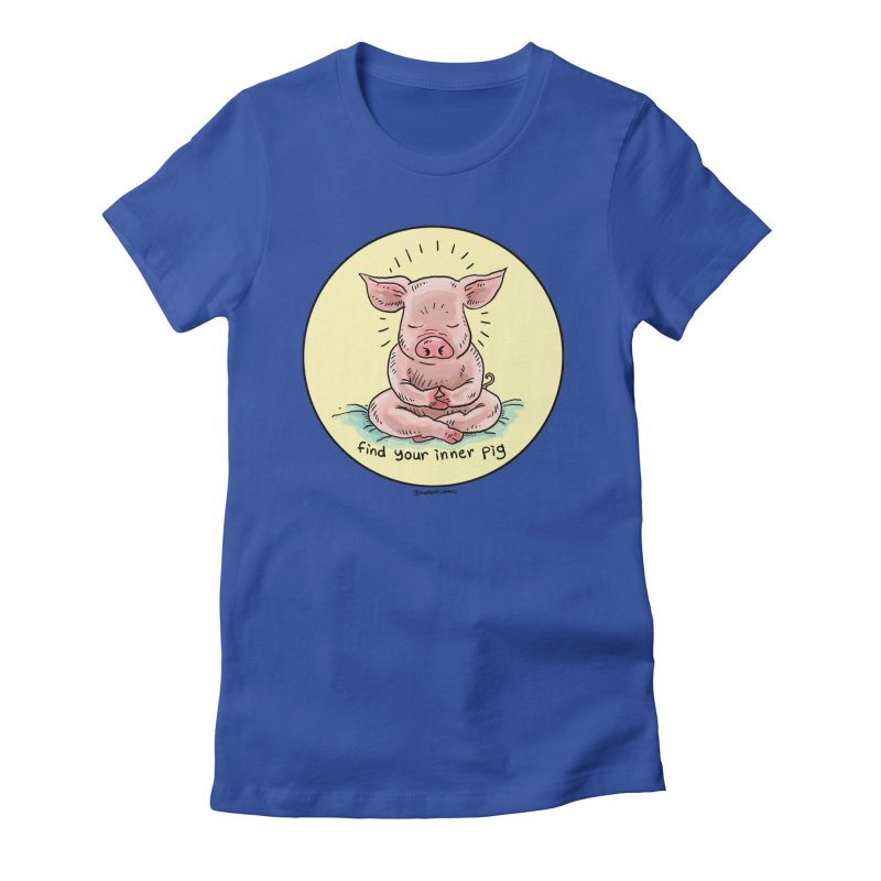 Inner Pig (Color)  Women's Fitted T-Shirt by rjamadoart's Artist Shop