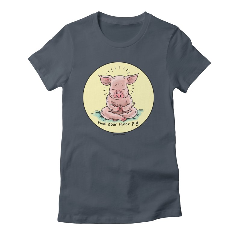 Inner Pig (Color)  Women's T-Shirt by Pigment World Artist Shop