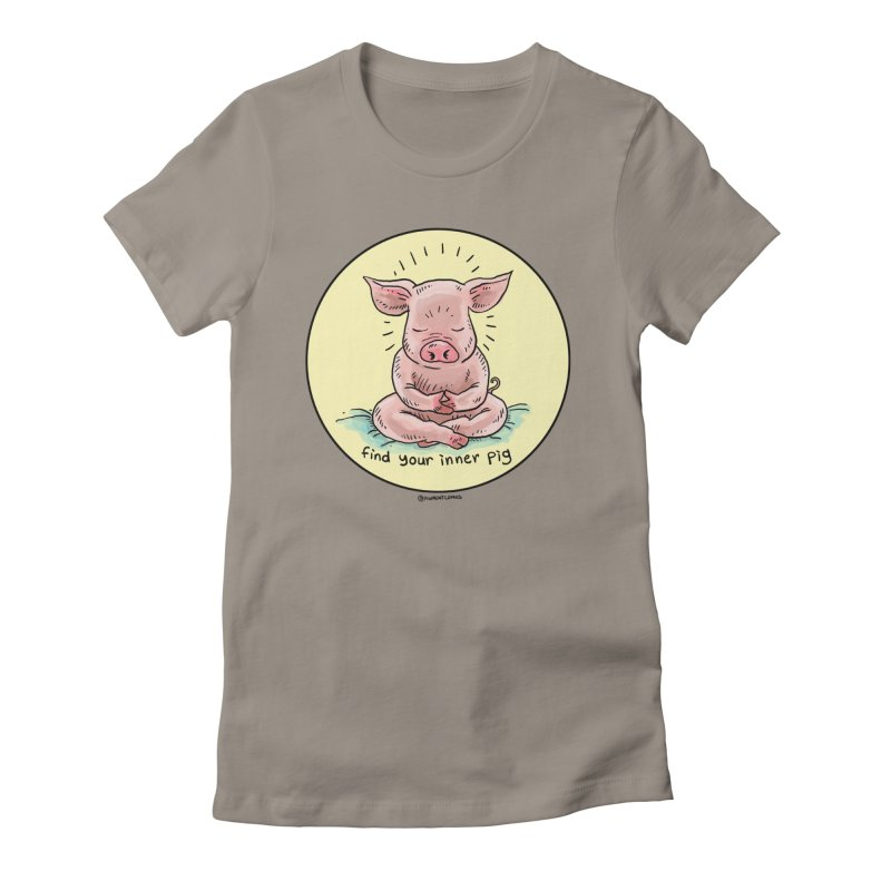 Inner Pig (Color)  Women's Fitted T-Shirt by Pigment World Artist Shop