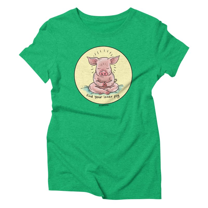 Inner Pig (Color)  Women's Triblend T-Shirt by Pigment World Artist Shop