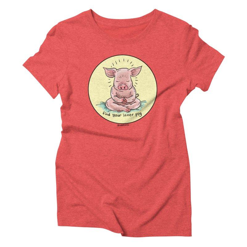 Inner Pig (Color)  Women's Triblend T-Shirt by Pigment World Artist Shop