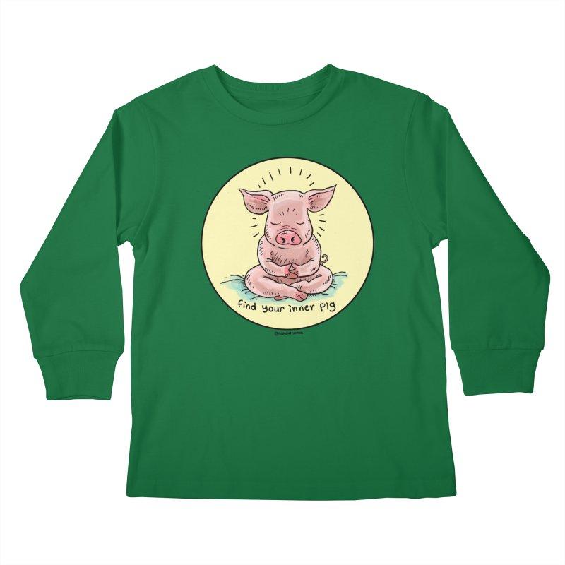 Inner Pig (Color)  Kids Longsleeve T-Shirt by rjamadoart's Artist Shop