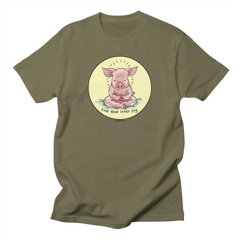 Inner Pig (Color)  Men's T-Shirt by Pigment World Artist Shop