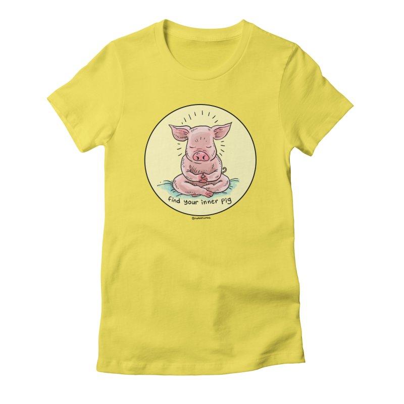 Inner Pig (Color)  Women's T-Shirt by Pigment World Artist Shop