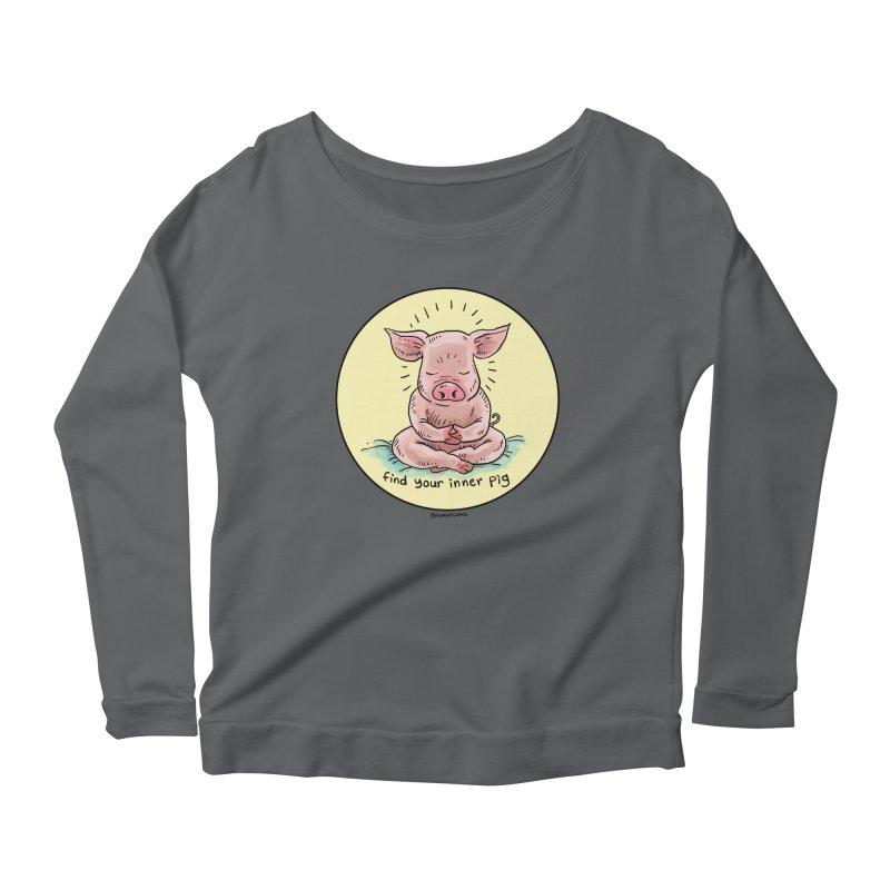 Inner Pig (Color)  Women's Longsleeve T-Shirt by Pigment World Artist Shop