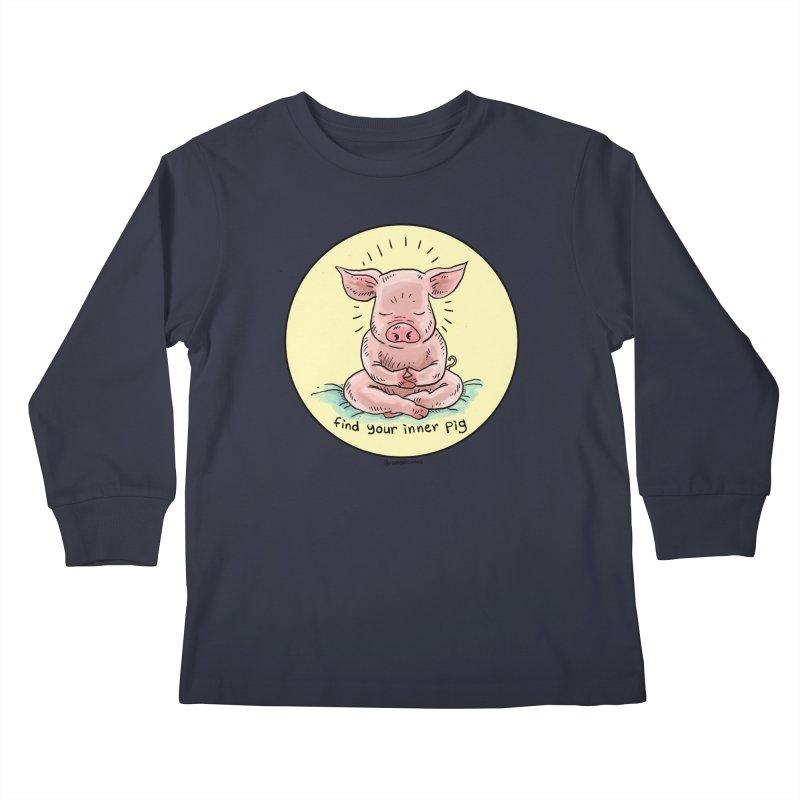 Inner Pig (Color)  Kids Longsleeve T-Shirt by Pigment World Artist Shop