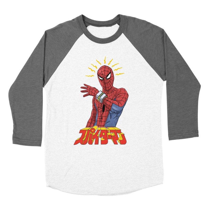 Japan Retro TV Men's Baseball Triblend Longsleeve T-Shirt by Pigment World Artist Shop