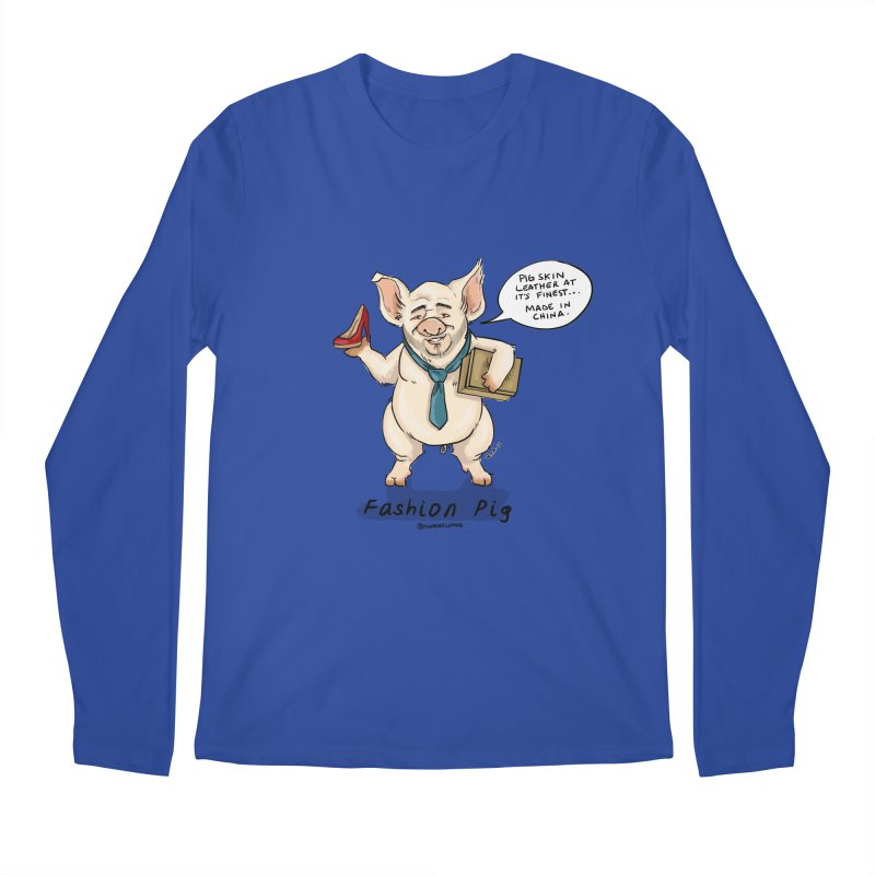 Fashion Pig  Men's Longsleeve T-Shirt by Pigment World Artist Shop