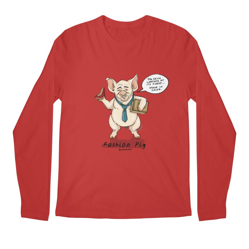Fashion Pig  Men's Longsleeve T-Shirt by Pigment World Artist Shop