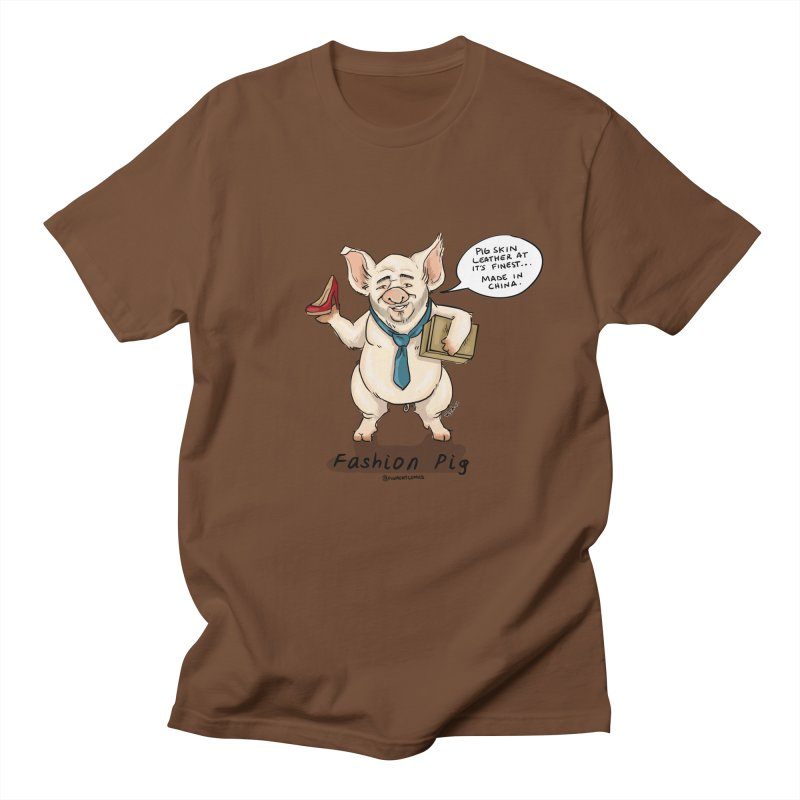 Fashion Pig  Men's Regular T-Shirt by Pigment World Artist Shop