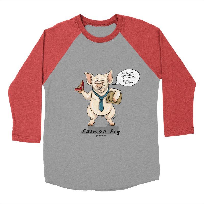 Fashion Pig  Women's Baseball Triblend Longsleeve T-Shirt by Pigment World Artist Shop