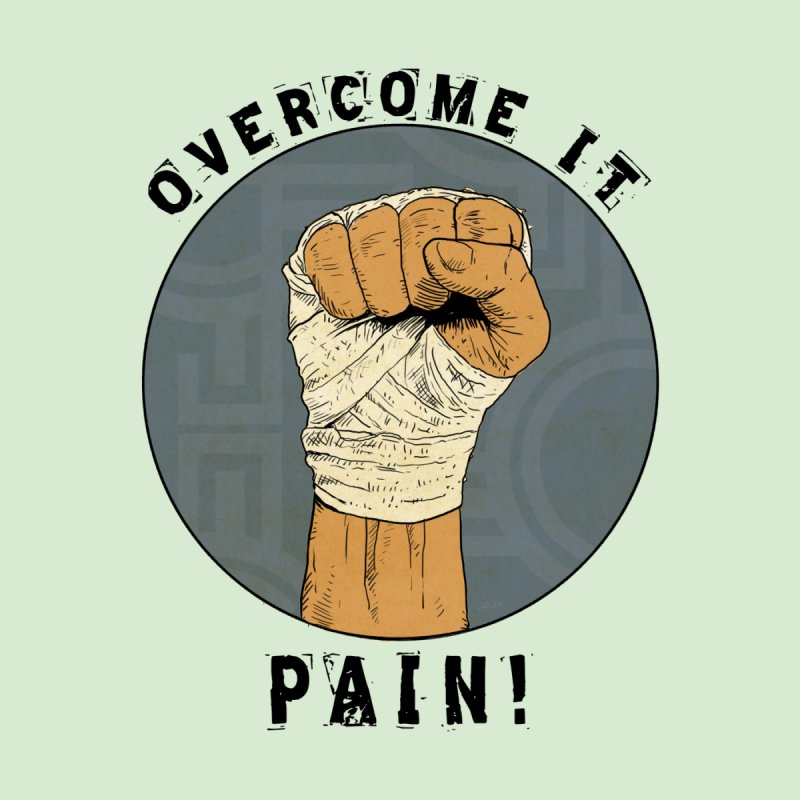 Overcome Pain  Men's Longsleeve T-Shirt by Pigment World Artist Shop