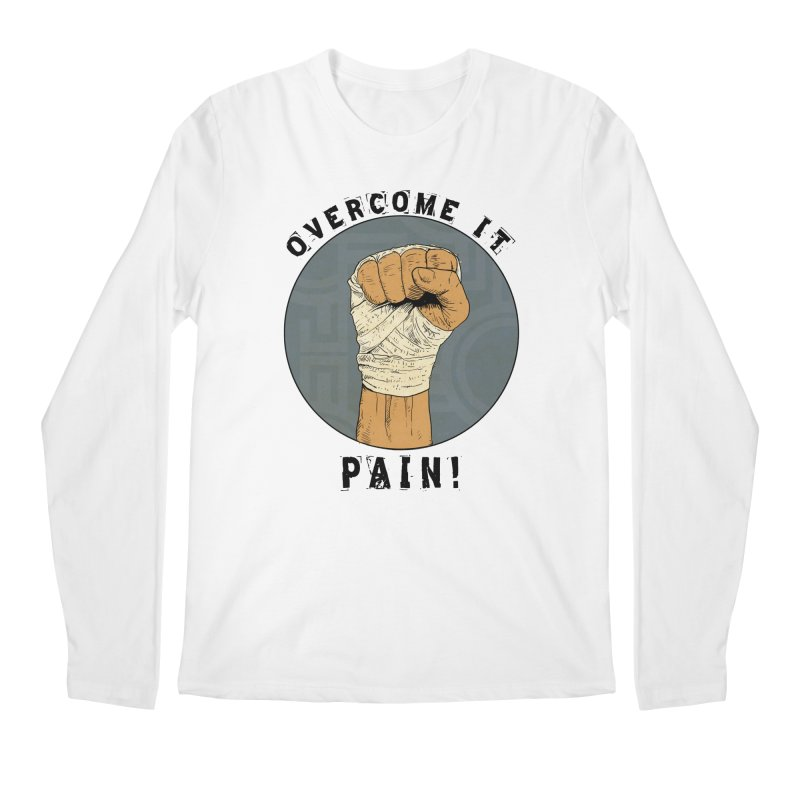 Overcome Pain  Men's Regular Longsleeve T-Shirt by Pigment World Artist Shop