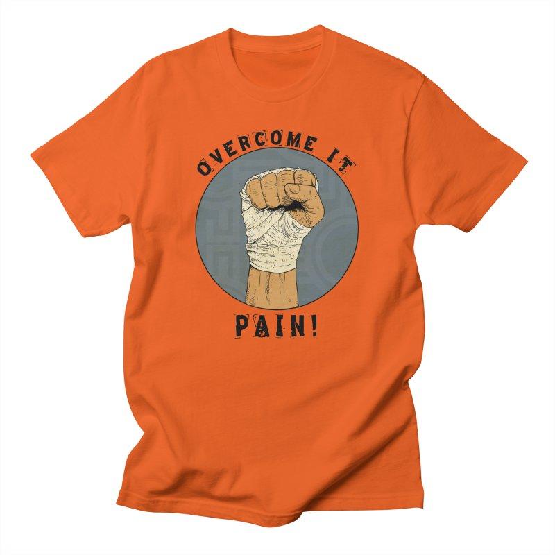 Overcome Pain  Men's T-Shirt by Pigment World Artist Shop