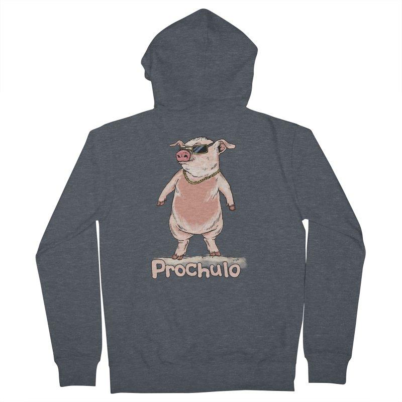 Proschulo Men's Zip-Up Hoody by Pigment World Artist Shop