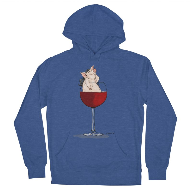 Wine Night  Women's French Terry Pullover Hoody by Pigment World Artist Shop