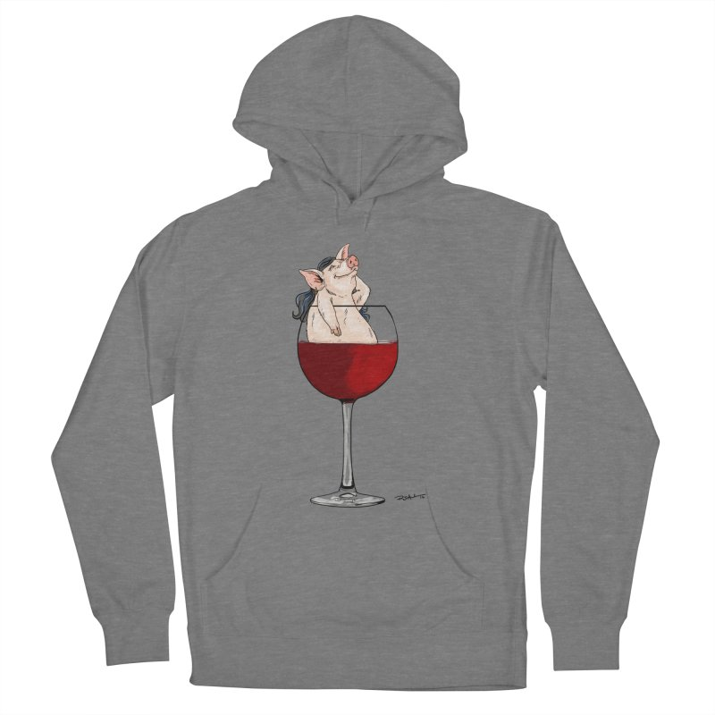 Wine Night  Women's Pullover Hoody by Pigment World Artist Shop